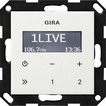 Gira 228403 Unterputz Radio RDS ohne Lautsprecher ST55