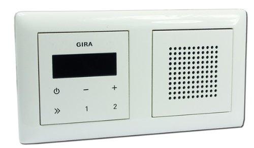 Gira Unterputz Radio RDS mit Lautsprecher und Rahmen – reinweiß glänzend