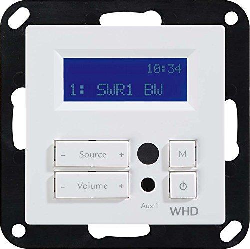 WHD Unterputz Radio mit RDS Display und Fernbedienung
