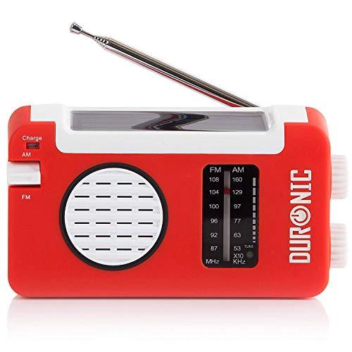 Duronic Hybrid Kurbel Radio AM / FM – Solarenergie und USB-Ladegerät