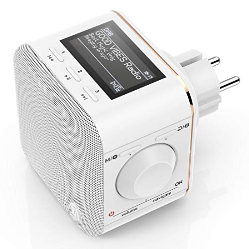 Hama Digitalradio für die Steckdose DAB+ Steckdosenradio DR40BT-PlugIn