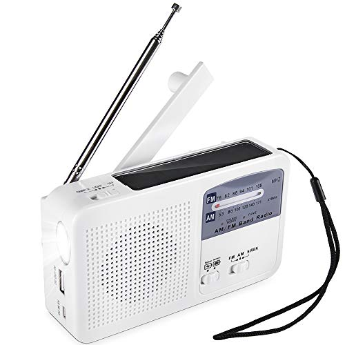 Tragbares Notradio Solar Dynamo Power wiederaufladbare Handkurbel FM/AM Radio drahtlose MP3 Player LED Taschenlampe